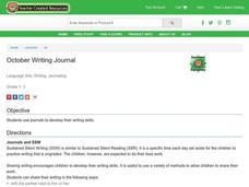 October Writing Journal Lesson Plan