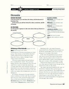 Oceania Worksheet