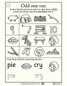 Odd One Out Worksheet