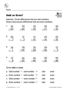 Odd or Even? Worksheet
