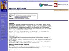 Ode to a Nightingale Lesson Plan