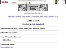 Ohm's Law Lesson Plan