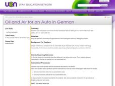 Oil and Air for an Auto in German Lesson Plan