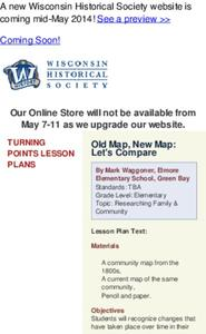 Old Map, New Map: Let's Compare Lesson Plan