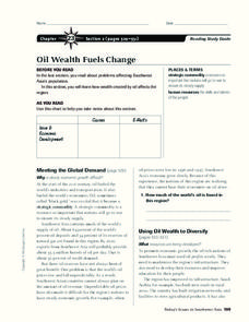 Oil Wealth Fuels Change Worksheet