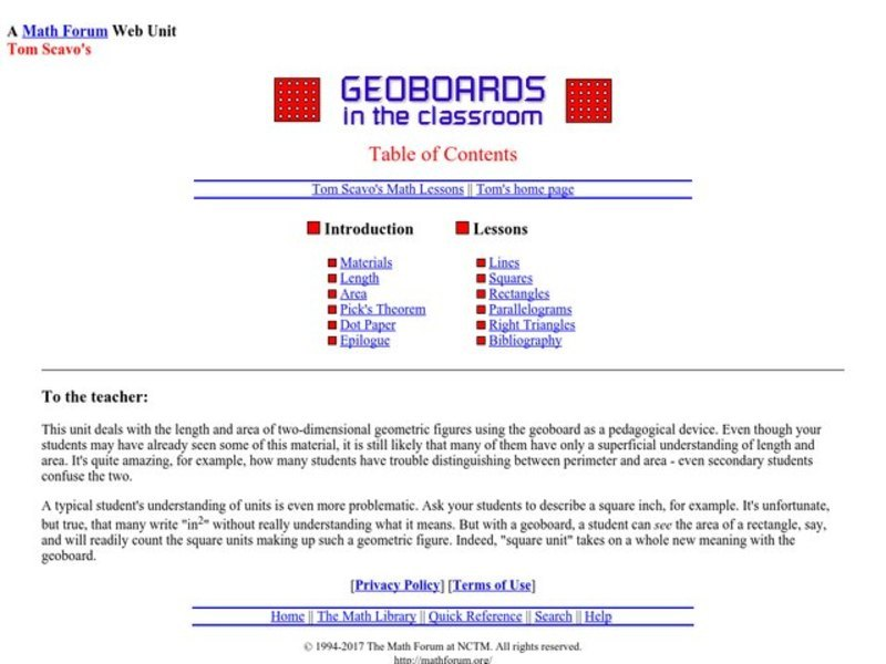 Geoboards in the Classroom Lesson Plan