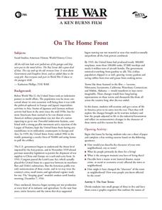 On The Home Front Lesson Plan