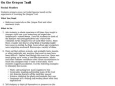 On the Oregon Trail Lesson Plan