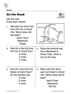 On the Road Worksheet