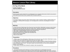 On Top of the World Lesson Plan