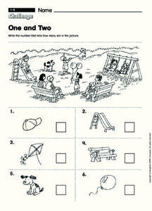 One and Two Worksheet