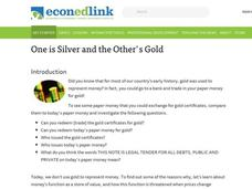 One is silver and the other's gold Lesson Plan