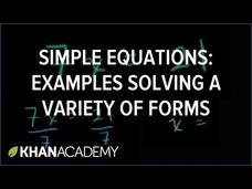 One Step Equations Video