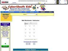 One-Digit Subtraction Lesson Plan
