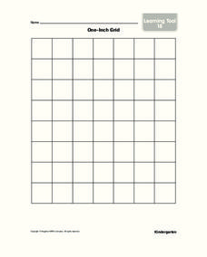 One-Inch Grid Worksheet