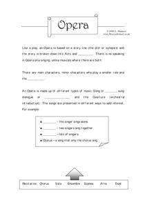 Opera Worksheet