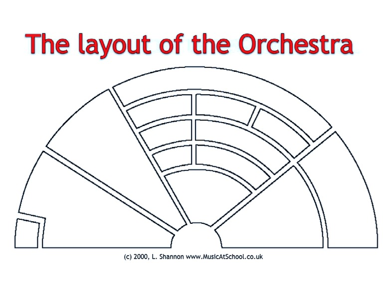 Orchestra Layout 6th - 7th Grade Worksheet | Lesson Planet
