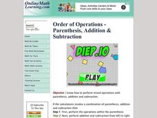 Order of Operations 2 Interactive
