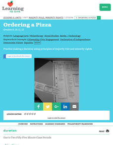 Ordering a Pizza Lesson Plan