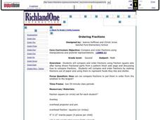 Ordering Fractions Lesson Plan