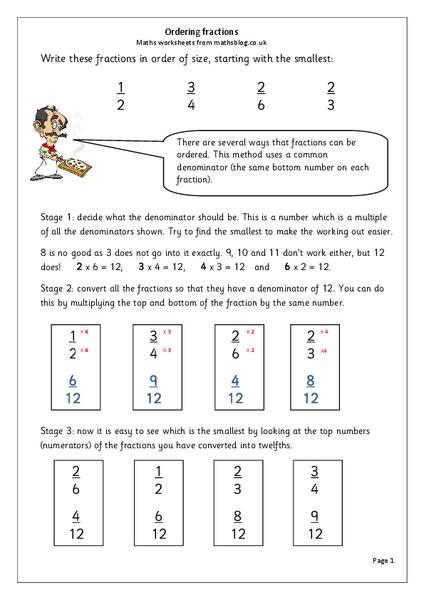 ordering fractions worksheet for 4th 5th grade lesson planet. Black Bedroom Furniture Sets. Home Design Ideas