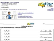 Ordering Numbers Interactive