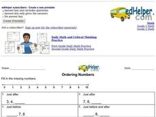 Ordering Numbers 2 Worksheet