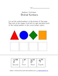 Ordinal Numbers 2 Worksheet