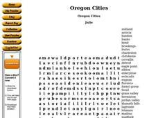 Oregon Cities Worksheet