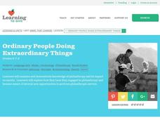 Ordinary People doing Extraordinary Things Lesson Plan
