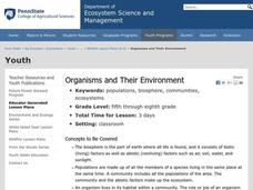 Organisms and Their Environment Lesson Plan