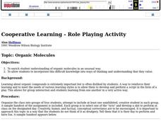 Organic Molecules Lesson Plan