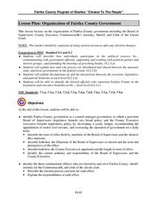 Organization of Fairfax County Government Lesson Plan