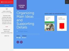Organizing Main Ideas and Supporting Details Lesson Plan