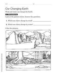 Our Changing Earth Worksheet for 3rd - 5th Grade | Lesson ...