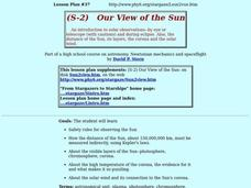 Our View of the Sun Lesson Plan
