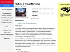 Outline a Travel Narrative Lesson Plan