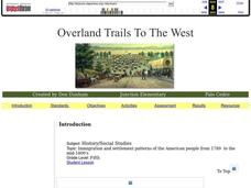 Overland Trails To The West Lesson Plan