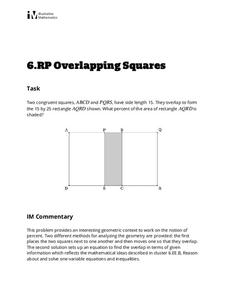 Overlapping Squares Activities & Project