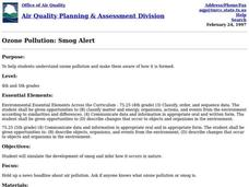 Ozone Pollution: Smog Alert Lesson Plan
