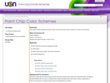 Paint Chip Color Schemes Lesson Plan
