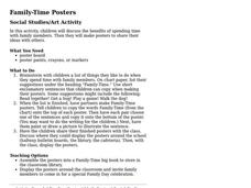 Family Time Posters Lesson Plan