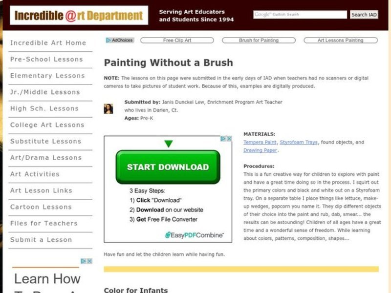 Painting Without a Paintbrush Lesson Plan