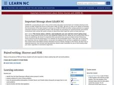 Paired Writing: Hoover and FDR Lesson Plan