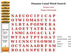 Panama Canal Worksheet