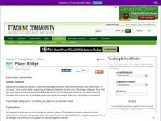 Paper Bridge Lesson Plan