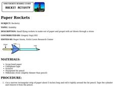 Paper Rockets Lesson Plan