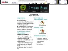 Paper Structures Lesson Plan