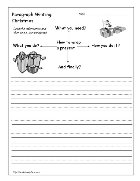 Paragraph Writing Christmas Worksheet For 4th 5th Grade