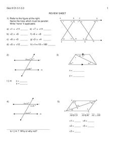 Parallel Lines Worksheet